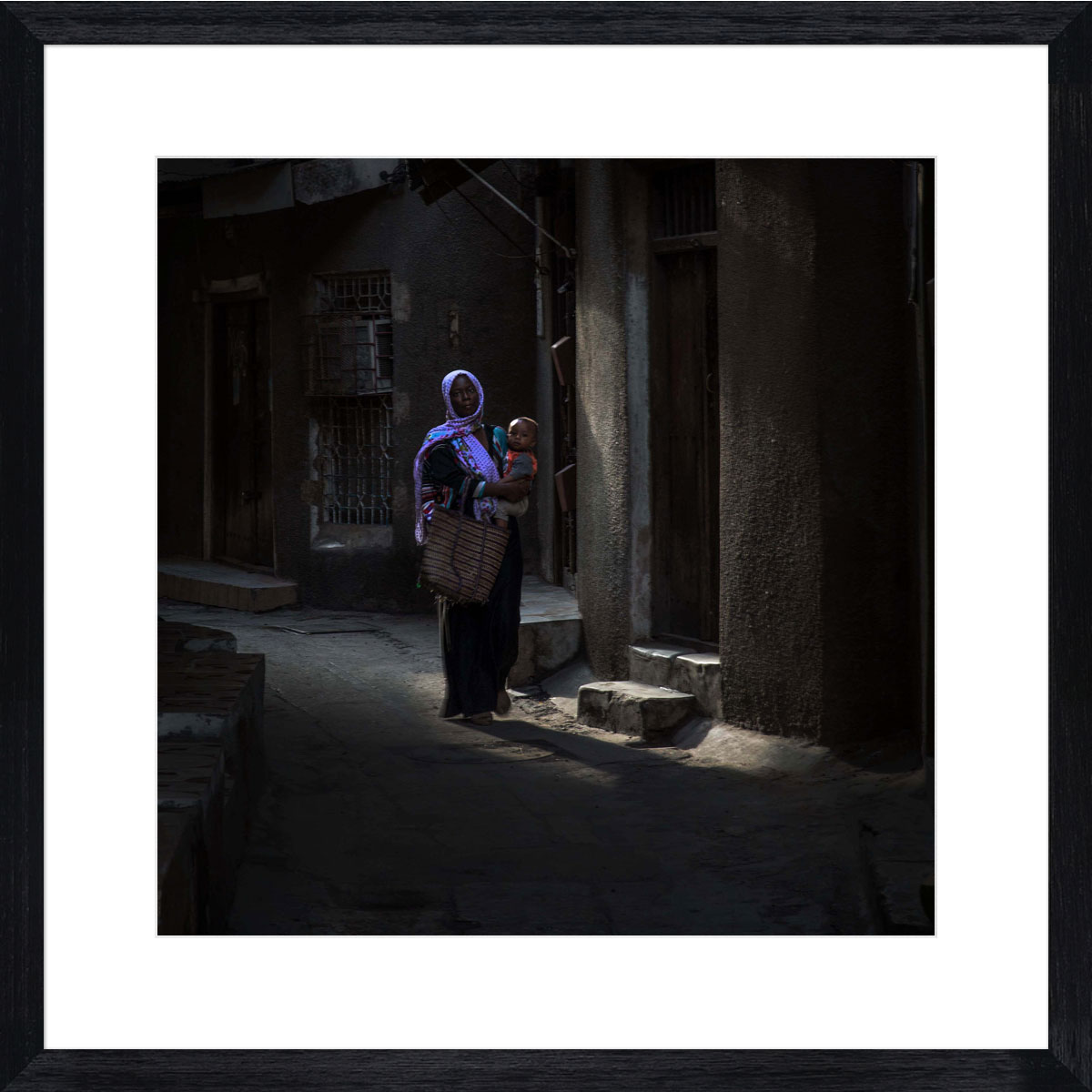 Stone-Town-Dawn-photographic-print-black