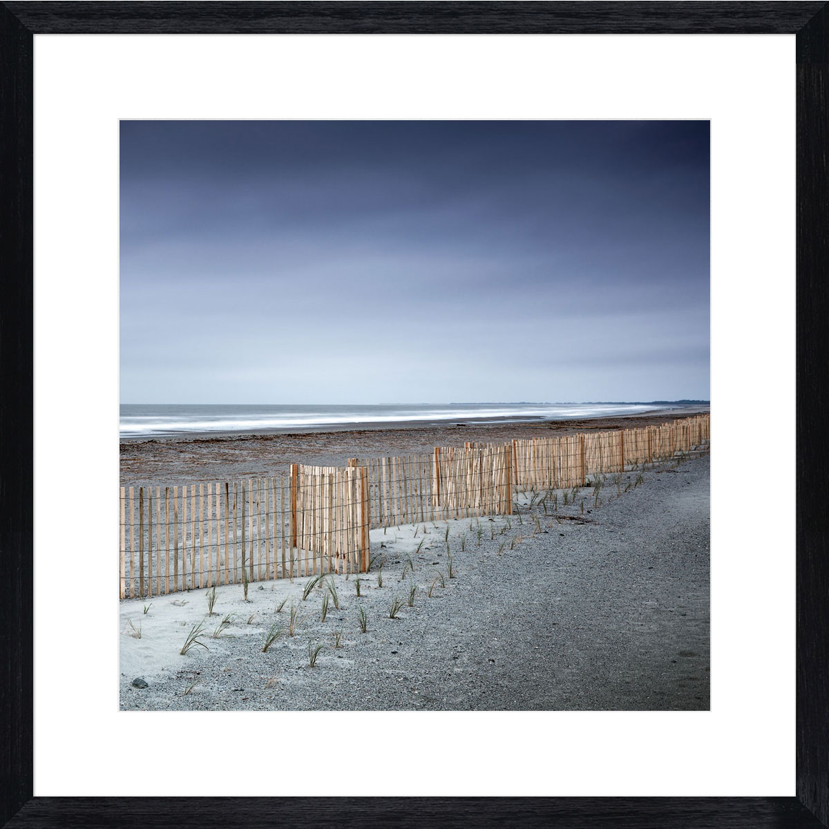 Folly-Beach-Photographic-Print-Black